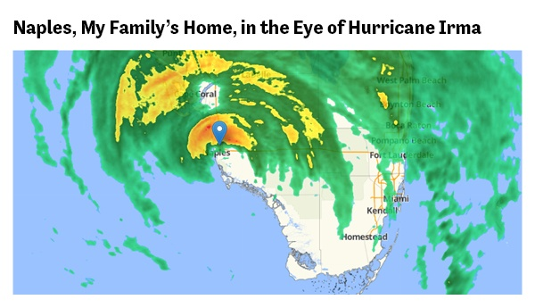 Naples, My Family's Home, in the Eye of Hurrican Irma