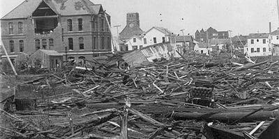 Galveston Hurricane Destruction