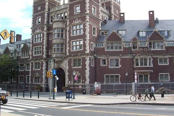"""Main Entrance to """"the Quad"""" at the University of Pennsylvania"""